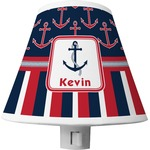 Nautical Anchors & Stripes Shade Night Light (Personalized)