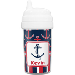 Nautical Anchors & Stripes Sippy Cup (Personalized)