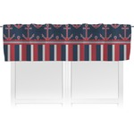 Nautical Anchors & Stripes Valance (Personalized)