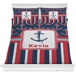 Nautical Anchors & Stripes Comforters (Personalized)
