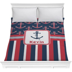 Nautical Anchors & Stripes Comforter (Personalized)