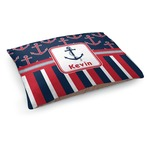 Nautical Anchors & Stripes Dog Bed (Personalized)