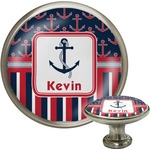 Nautical Anchors & Stripes Cabinet Knobs (Personalized)