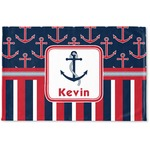 Nautical Anchors & Stripes Woven Mat (Personalized)