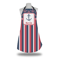 Nautical Anchors & Stripes Apron (Personalized)