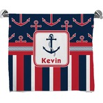 Nautical Anchors & Stripes Bath Towel (Personalized)