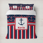 Nautical Anchors & Stripes Duvet Covers (Personalized)