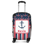Nautical Anchors & Stripes Suitcase (Personalized)