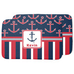 Nautical Anchors & Stripes Dish Drying Mat w/ Name or Text