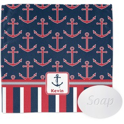 Nautical Anchors & Stripes Wash Cloth (Personalized)