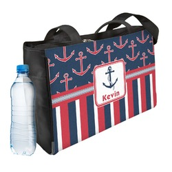 Nautical Anchors & Stripes Ladies Workout Bag (Personalized)