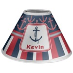 Nautical Anchors & Stripes Coolie Lamp Shade (Personalized)