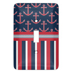 Nautical Anchors & Stripes Light Switch Covers - Multiple Toggle Options Available (Personalized)