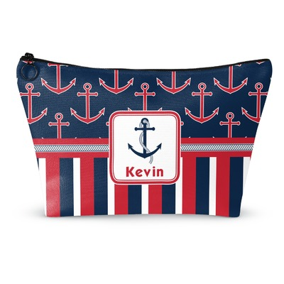 Nautical Anchors & Stripes Makeup Bags (Personalized)