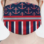 Nautical Anchors & Stripes Face Mask Cover (Personalized)