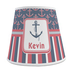 Nautical Anchors & Stripes Empire Lamp Shade (Personalized)