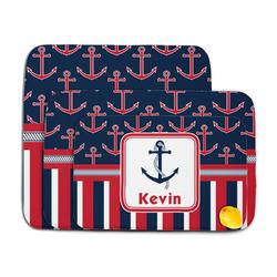 Nautical Anchors & Stripes Memory Foam Bath Mat (Personalized)