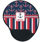 Nautical Anchors & Stripes Mouse Pad with Wrist Support