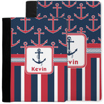 Nautical Anchors & Stripes Notebook Padfolio w/ Name or Text