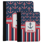 Nautical Anchors & Stripes Padfolio Clipboard (Personalized)