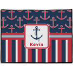 Nautical Anchors & Stripes Door Mat (Personalized)