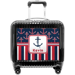 Nautical Anchors & Stripes Pilot / Flight Suitcase (Personalized)