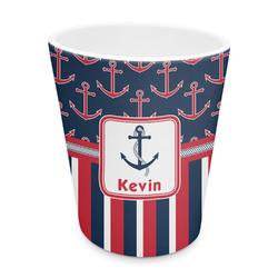 Nautical Anchors & Stripes Plastic Tumbler 6oz (Personalized)