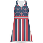 Nautical Anchors & Stripes Racerback Dress (Personalized)