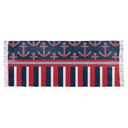 Nautical Anchors & Stripes Faux Pashmina Scarf (Personalized)