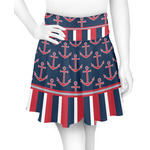 Nautical Anchors & Stripes Skater Skirt (Personalized)