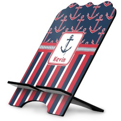 Nautical Anchors & Stripes Stylized Tablet Stand (Personalized)