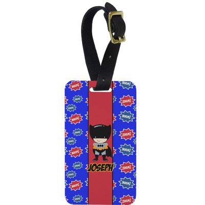 Superhero Metal Luggage Tag w/ Name or Text
