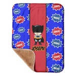 "Superhero Sherpa Baby Blanket 30"" x 40"" (Personalized)"