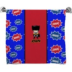 Superhero Full Print Bath Towel (Personalized)