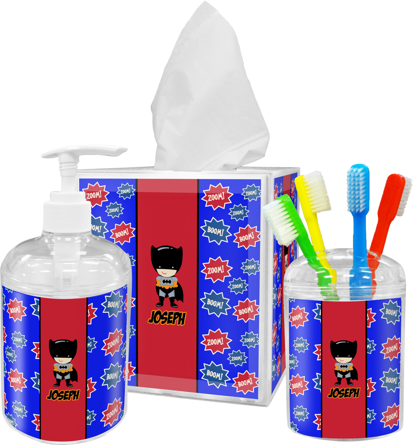 Superhero Bathroom Accessories Set Personalized