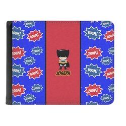 Superhero Genuine Leather Men's Bi-fold Wallet (Personalized)
