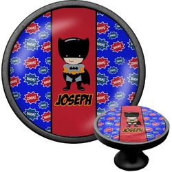 Superhero Cabinet Knob (Black) (Personalized)
