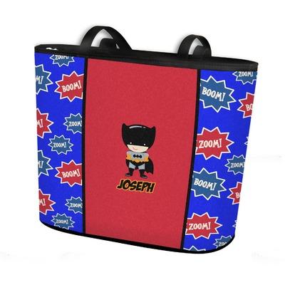 Superhero Bucket Tote w/ Genuine Leather Trim (Personalized)