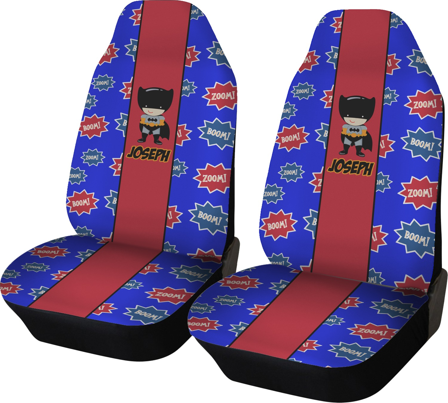 superhero car seat covers set of two personalized youcustomizeit