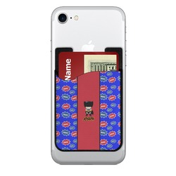 Superhero Cell Phone Credit Card Holder (Personalized)
