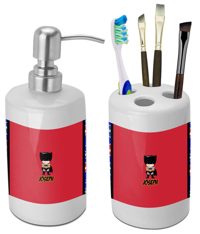 Superhero Bathroom Accessories Set (Ceramic) (Personalized ...