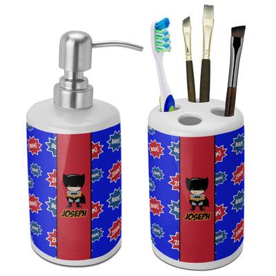 Superhero Bathroom Accessories Set (Ceramic) (Personalized)