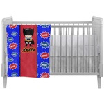 Superhero Crib Comforter / Quilt (Personalized)