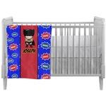 Superhero Crib Comforter / Quilt (Personalized)
