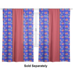 "Superhero Curtains - 20""x84"" Panels - Lined (2 Panels Per Set) (Personalized)"