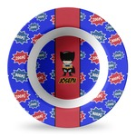 Superhero Plastic Bowl - Microwave Safe - Composite Polymer (Personalized)