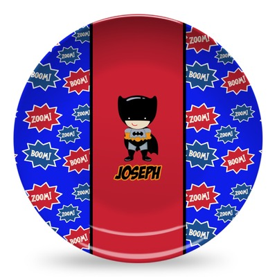 Superhero Microwave Safe Plastic Plate - Composite Polymer (Personalized)