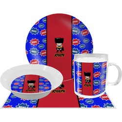 Superhero Dinner Set - 4 Pc (Personalized)