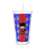 Superhero Double Wall Tumbler with Straw (Personalized)