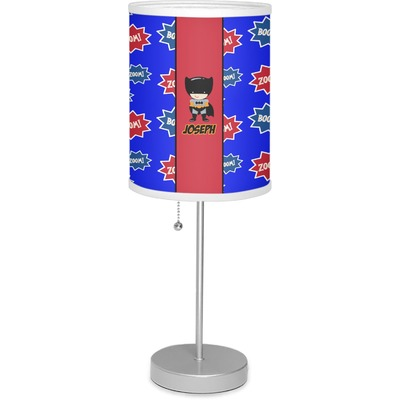 """Superhero 7"""" Drum Lamp with Shade (Personalized)"""